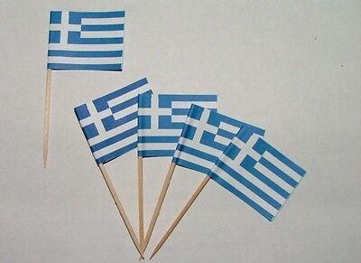 Flaggen Zahnstocher Griechenland Fahne Flagge Minipicker Partyzahnstocher