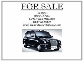 Taxi Driver (Hamilton, South Lanarkshire) License for Sale