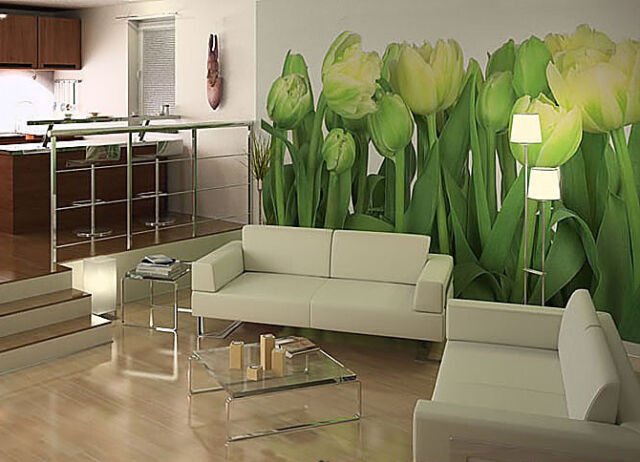 GIANT Wall Mural Photo Wallpaper TULIPS FLOWERS Living Room Decor Art 368x254cm