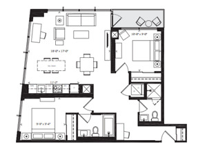 The Kip District 2BR 2WR Condo in Etobicoke for Lease / Rent