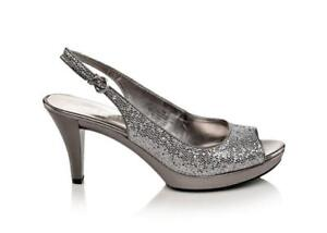 Nine West Silver Glitter Slingback Pumps -- 9B, worn only once