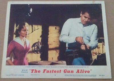 THE FASTEST GUN ALIVE MOVIE POSTER LOBBY CARD #8 1956 ORIGINAL 11x14