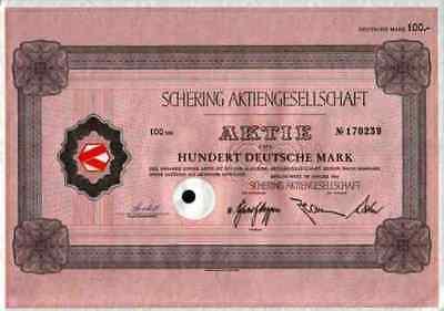 SCHERING Dax Wert 1966 Berlin Bergkamen 1966 Merck Bayer100 DM Weimar
