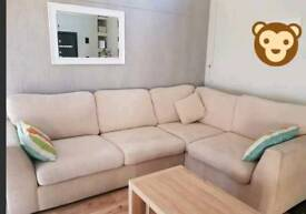 dfs cream corner sofa 1.5 years old