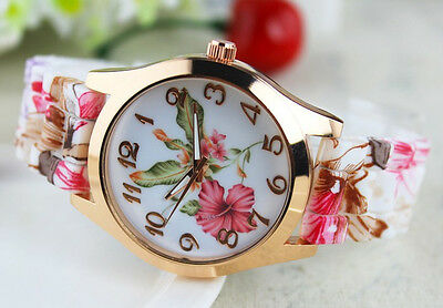 $6.99 - Fashion Stainless Steel Luxury Flower Quartz Girl Women Ladies Wrist Watch