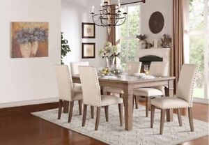 dinning table only driftwood-finished dining set.