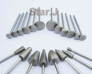 20pcs-Dental-Lab-Jewelry-Emery-Bit-Carborundum-2-35mm-Diamond-Burs