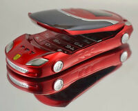 Ferrari car style flip unlocked mobile phone with 2 SIM for sale
