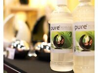 """PURE"" Bio-Gel Fuel for indoor and outdoor decorative burners."