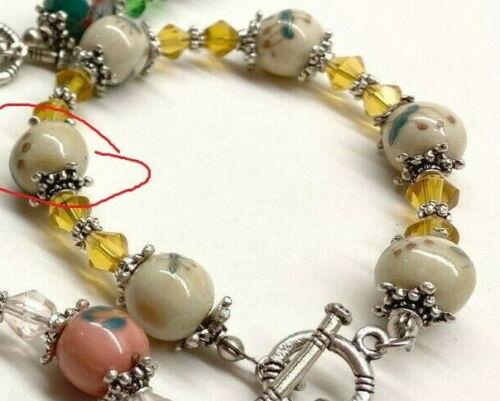 Ceramic Beads Yellow Round 10mm Beads for Bracelet Making 50 pcs Loose