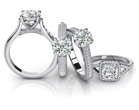 ENGAGEMENT RINGS WANTED ~ GOLD ~ PLATINUM ~ SILVER 375 925 999 SCRAP