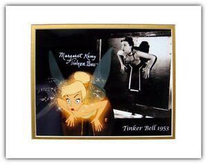 Disney Tinker Bell Autographed Matted Photo Signed Margaret Kerry Peter Pan