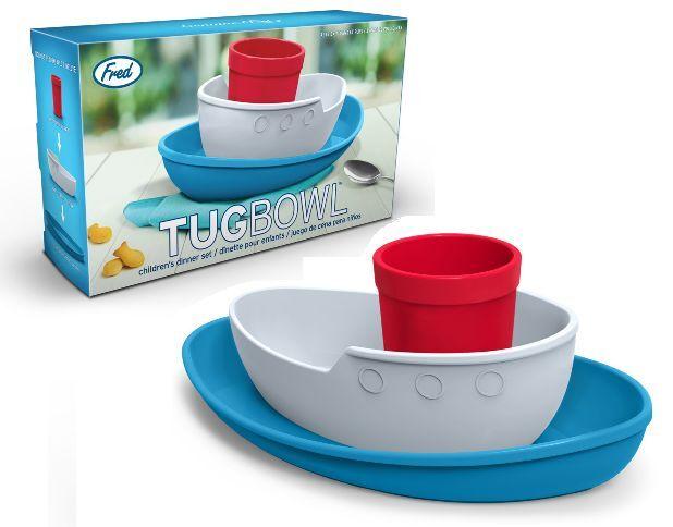 Fred Tug Bowl Children's Dinner Set Boat Ship Tug Novelty Plate Bowl Cup GIFT