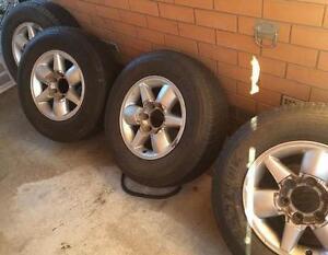 4 x Tyres Bridgestone Dueler 245/70/16 with Nissan Rims Werribee Wyndham Area Preview