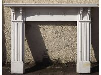 Antique Pine Fire Surround - Painted