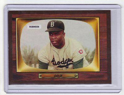 Jackie Robinson  55 Brooklyn Dodgers Hall Of Famer Color Tv Extension Set