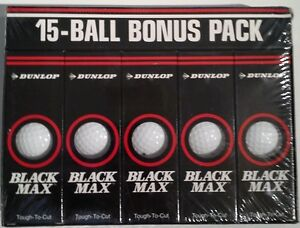 BRAND NEW  DUNLOP BLACK MAX 15 GOLF BALL BONUS PACK