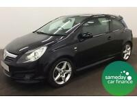ONLY £141.64 PER MONTH BLACK 2010 VAUXHALL CORSA 1.7 CDTI E/F SRI 3 DOOR MANUAL