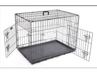 Dog Crate (Large) - Metal Collapsible Training Crate
