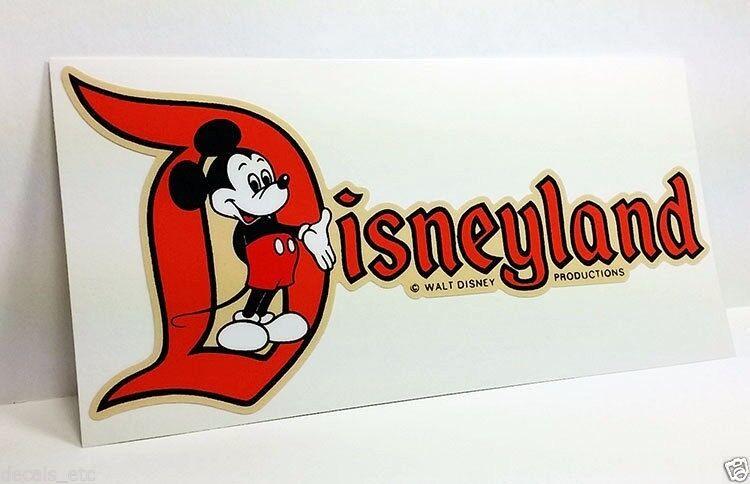 Disneyland CA, Mickey Vintage Style Travel Decal / Vinyl Sticker, Luggage Label