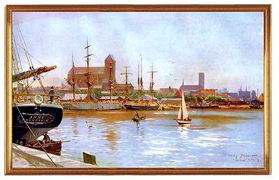 Deutsches Reich Wismar Hafen 1909 Gemälde Stöwer 16 LW