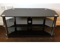 Modern Black Glass TV Stand up to 60 inch