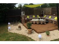 Rustic pallet style garden n furniture