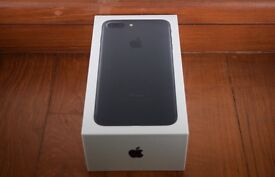 Apple iPhone 7 32GB Matt black brand new in box with warranty and proof of receipt for sale