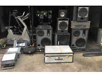 Speaker System Set-up (Speakers, Amps, lighting )- Concert - Festivals