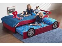 Kids Car Bed With Spare Pull-Out Bed