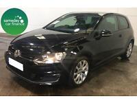 £206.12 PER MONTH BLACK 2013 VW GOLF 2.0 TDI GT 3 DOOR DIESEL MANUAL