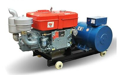 Brand New 15000w 15kw Diesel Powered Generator Free Ship To Worldwide