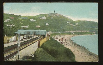 Ireland KILLINEY HILL Railway station 1907 PPC
