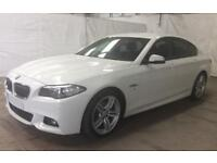 BMW 520D WHITE 2.0 M SPORT SALOON DIESEL FROM £83 PER WEEK!