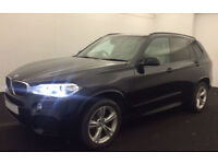 Black BMW X5 3.0d M Sport 7 seats Auto Diesel Leather FROM £140 PER WEEK!