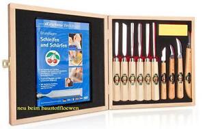 Kirschen 3442HK Stechbeitel Schnitzmesser Holzschnitzer-Werkzeuge 11-tlg Set DVD