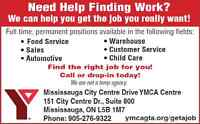 Need Help Finding Work? We can help!