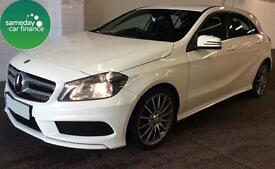 £227.11 PER MONTH WHITE 2013 MERCEDES A180 1.5 BLUEEFFICIENCY AMG SPORT DIESEL