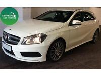 £308.01 PER MONTH WHITE 2013 MERCEDES A180 1.5 BLUEEFFICIENCY AMG SPORT DIESEL