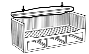 daybed Hemnes missing part