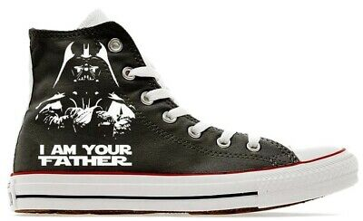 MENS STAR WARS DARTH VADER CONVERSE ALL STAR BLACK HIGH TOP CHUCK TAYLOR SZ 11