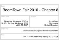2 tickets for Boomtown 2016