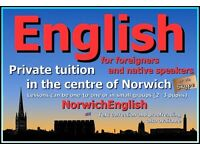 English lessons in Norwich (or via Skype)