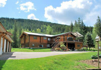 Log Home on Waterfront Acreage