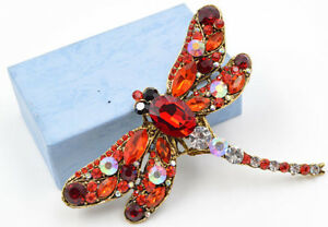 Vintage dragonfly brooches