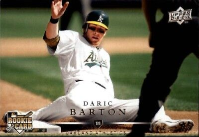 2008 Upper Deck  305 Daric Barton Oakland Athletics Rookie Card
