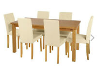 Table - Kitchen Table and 6 Chairs - Dining Table - BRAND NEW - Solid Wood - 6 Seater - Table