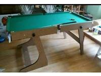 5 foot Hy-pro folding pool and snooker table