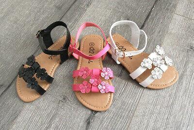 New Flower Girl Wedding Kids Slip On Beach Summer Sandals size  11-4