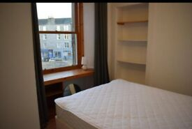 A cosy double bedroom in a two bedroom flat in Abbeyhill